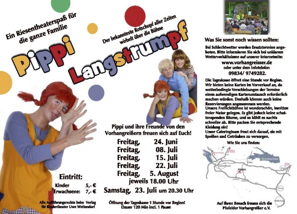 Flyer Pippi Langstumpf